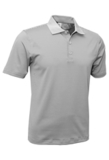 Men's Mini Stripe Polo White with Charcoal Thumbnail