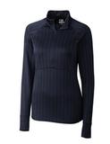 Women's Cutter & Buck DryTec Hamden Jacquard Pullover Liberty Navy Thumbnail
