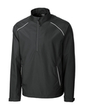 Men's Cutter & Buck Big & Tall WeatherTec Beacon 1/2-Zip Jacket Black Thumbnail