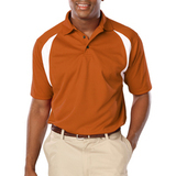 Men's Raglan Wicking Polo Burnt Orange Thumbnail