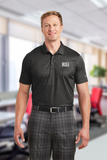 Nike Golf Dri-FIT Crosshatch Polo Anthracite with Black Thumbnail