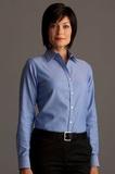 Greg Norman Women's Easy-care Dobby Woven Long Sleeve Dress Shirt Blue Thumbnail