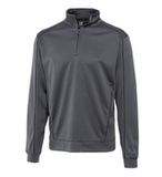 Cutter & Buck Men's DryTec Edge Half-Zip Elemental Grey with Black Thumbnail