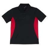 Women's REEBOK ATHLETIC POLO Black with Red Thumbnail