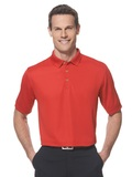 Callaway Ottoman Knit Polo Shirt Salsa Red Thumbnail
