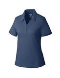 Women's Cutter & Buck DryTec Extended Sizes Championship Polo Shirt Steelhead Thumbnail
