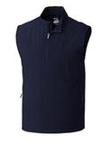 Men's Cutter & Buck WeatherTec Summit 1/2-Zip Vest Navy Blue Thumbnail
