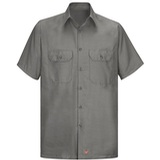 Short Sleeve Men's Solid Ripstop Shirt Thumbnail