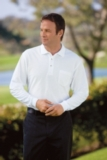 Silk Touch Long Sleeve Polo Shirt With Pocket White Thumbnail