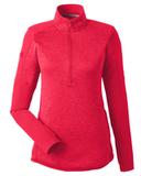 Under Armour Ladies' Qualifier Hybrid Corporate Quarter-Zip Red Thumbnail