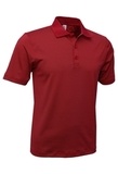 Men's Mini Stripe Polo Red with Charcoal Thumbnail