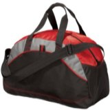 Small Contrast Duffel Red Thumbnail