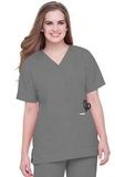 Snap-front V-neck Tunic Steel Thumbnail