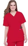Snap-front V-neck Tunic True Red Thumbnail