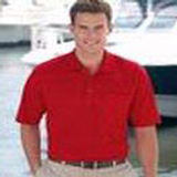 Solid Polo Shirt With Pocket Red Thumbnail