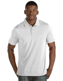Antigua Quest Polo Shirt White with Silver Thumbnail