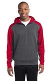 Sport-tek Colorblock Tech Fleece 1/4-zip Hooded Sweatshirt Thumbnail