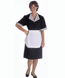 Spun Poly Housekeeping Dress Black Thumbnail