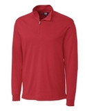 Cutter & Buck Men's Pima Cotton Long Sleeve Belfair Half-Zip Mock Turtleneck Cardinal Red Thumbnail