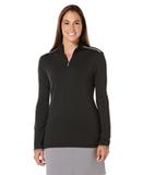 Women's Callaway 1/4-Zip Mock Pullover Black Thumbnail