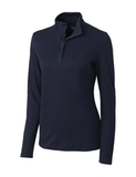 Women's Cutter & Buck Long Sleeve Belfair Half-Zip Mock Turtleneck Liberty Navy Thumbnail