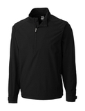 Men's Cutter & Buck WeatherTec Summit Half Zip Black Thumbnail