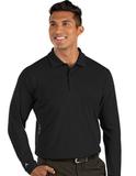 Antigua Tribute Long Sleeve Polo Black Thumbnail