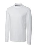 Cutter & Buck Pima Cotton Big & Tall Long Sleeve Belfair Mock Turtleneck White Thumbnail