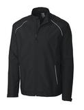 Men's Cutter & Buck Big & Tall WeatherTec Beacon Full-Zip Jacket Black Thumbnail