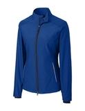 Women's Cutter & Buck WeatherTec Beacon Full Zip Jacket Tour Blue Thumbnail