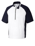 Men's Cutter & Buck WeatherTec Short Sleeve Summit 1/2-Zip White Thumbnail