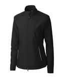Women's Cutter & Buck WeatherTec Beacon Full Zip Jacket Black Thumbnail