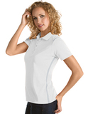 Women's Antigua Merit Desert Dry Polo White with Silver Thumbnail