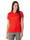 Women's Callaway Ottoman Knit Polo Shirt Salsa Red Thumbnail