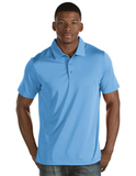 Antigua Quest Polo Shirt Columbia Blue with White Thumbnail