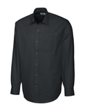 Men's Cutter & Buck L/S Epic Easy Care Spread Nailshead Black Thumbnail