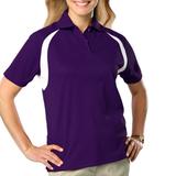 Women's Raglan Wicking Polo Purple Thumbnail