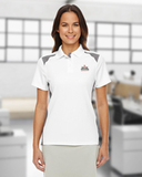 Women's Under Armour Team Colorblock Polo White with Graphite Thumbnail