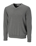 Men's CB Big & Tall Broadview V-neck Sweater Charcoal Heather Thumbnail