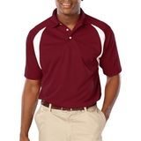 Men's Raglan Wicking Polo Burgundy Thumbnail