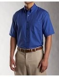 Men's Cutter & Buck Big & Tall Short Sleeve Epic Easy Care Fine Twill French Blue Thumbnail