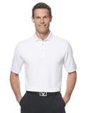 Callaway Ottoman Knit Polo Shirt White Thumbnail