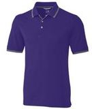 Advantage Tipped Polo College Purple Thumbnail