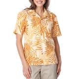 Tonal Print Camp Shirt Mango Tonal Print Thumbnail