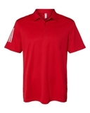 Floating 3-Stripes Sport Shirt Team Power Red with White Thumbnail