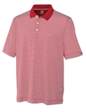 Cutter & Buck Men's DryTec Big & Tall Trevor Stripe Polo Shirt Cardinal Red with White Thumbnail
