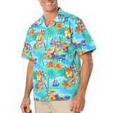 Tropical Print Poplin Camp Shirts Tropic Print Thumbnail