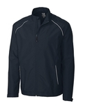Men's Cutter & Buck WeatherTec Beacon Full Zip Jacket Navy Blue Thumbnail