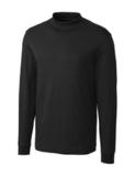 Cutter & Buck Pima Cotton Big & Tall Long Sleeve Belfair Mock Turtleneck Black Thumbnail