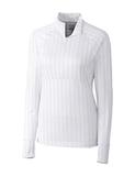 Women's Cutter & Buck DryTec Hamden Jacquard Pullover White Thumbnail